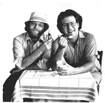 ben and jerry 70s eating ice cream