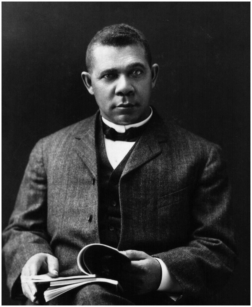 booker t washington seated portrait african american