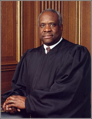 clarence thomas supreme court official portrait