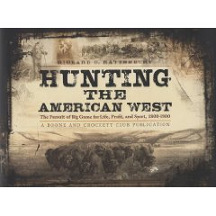 Book cover, hunting the american west by Boone and Crockett.