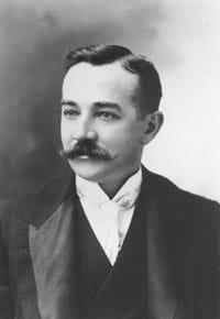 young milton hershey portrait mustache