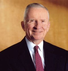 Ross Perot portrait.