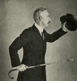 Vintage Bartitsu using hat to defend oneself.