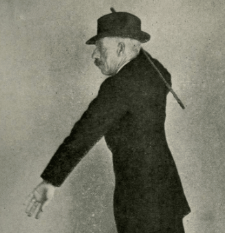 Vintage Bartitsu using cane for fighting.