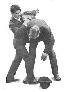 Vintage Jujitsu and Bartitsu fighting in suits.