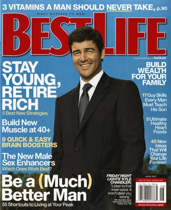 Magazine cover, best life by Kyle Chandler.