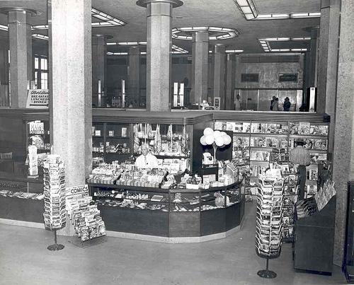 vintage magazine stand rack 1940s 1950s