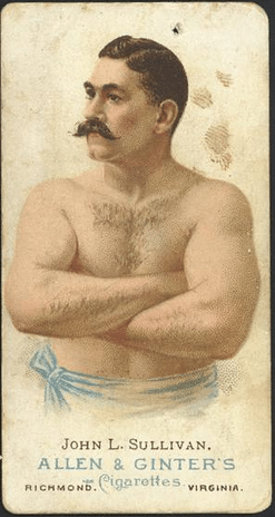 john l sullivan boxer cigarette ad illustration