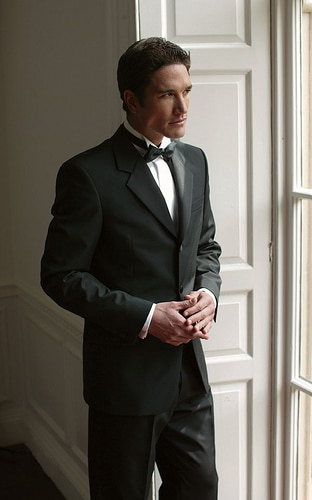 gentleman man in black tie dress tuxedo