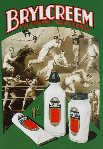 Vintage brylcreem advertisement.
