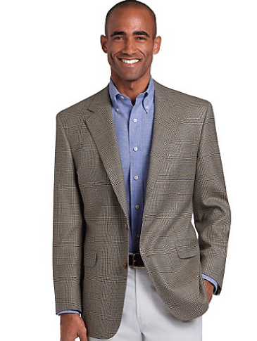 african american man business casual trousers blazer