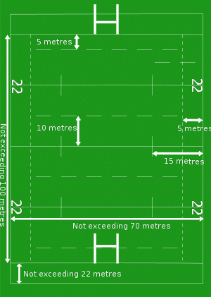 rugby field pitch diagram in metres meters