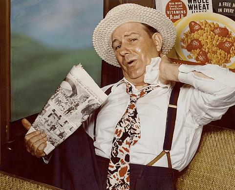 vintage man using handkerchief ad advertisement 1960s 1970s
