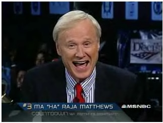christ matthews anchor msnbc liberal partisan