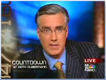 keith olbermann countdown msnbc anchorman desk