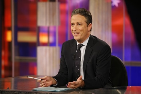 jon stewart daily show desk anchorman comedian