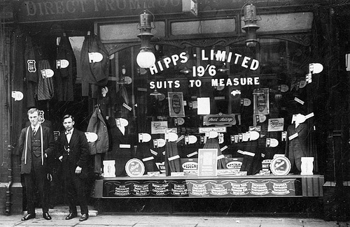 vintage tailor shop early 1900s hipps limited
