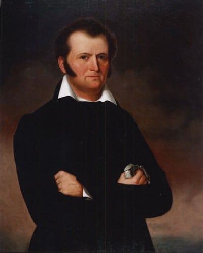 jim bowie alamo hero portrait painting