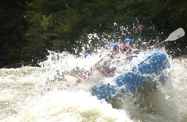 whitewater rafting big splash rapids