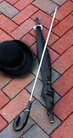 Sword umbrella modern man gentleman accessory.