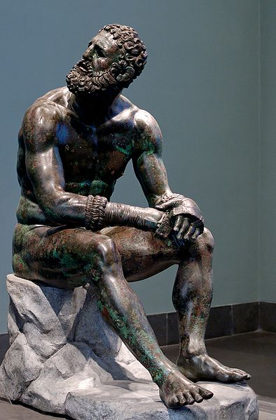 terme boxer first century greek statue