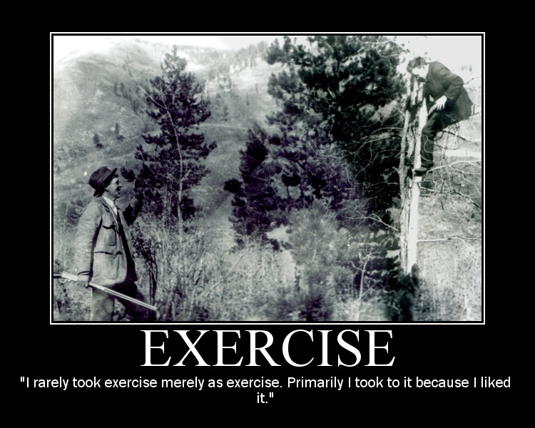 Motivational quote about Exercise by Theodore Roosevelt.