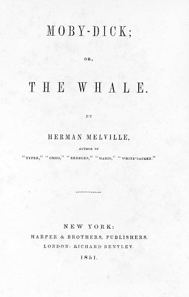 Book cover of Moby-Dick by Herman Melville.