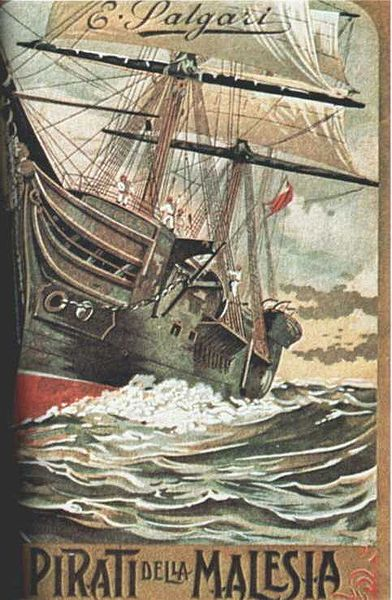 Book cover of The pirates of malaysia by Emilio Salgari.
