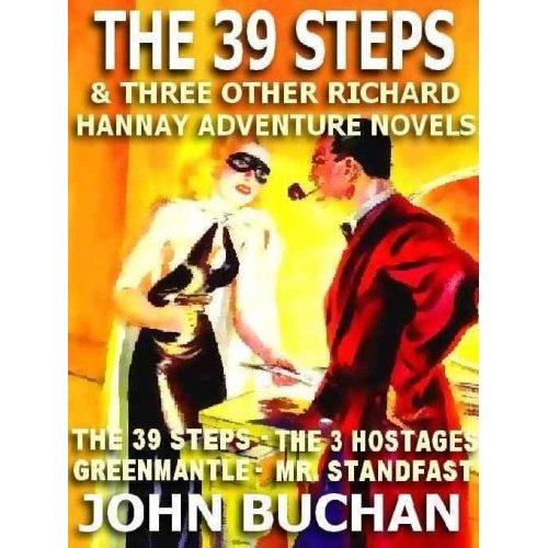 Book cover of The Thirty Nine Steps by John Buchan.