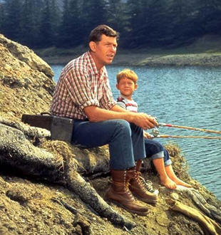 andy and opie fishing andy griffith show