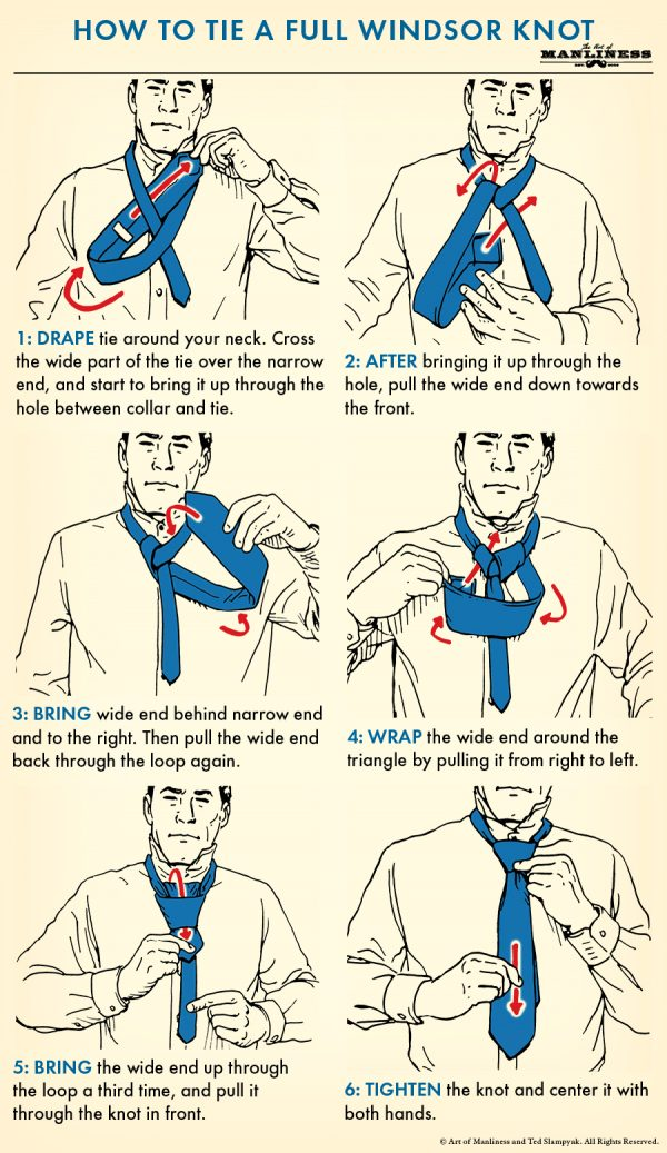 83adfba0764e33 Drape the tie around your neck. The wide end should extend about 12 inches  below the narrow end of the tie. Cross the wide part of the tie over the  narrow ...