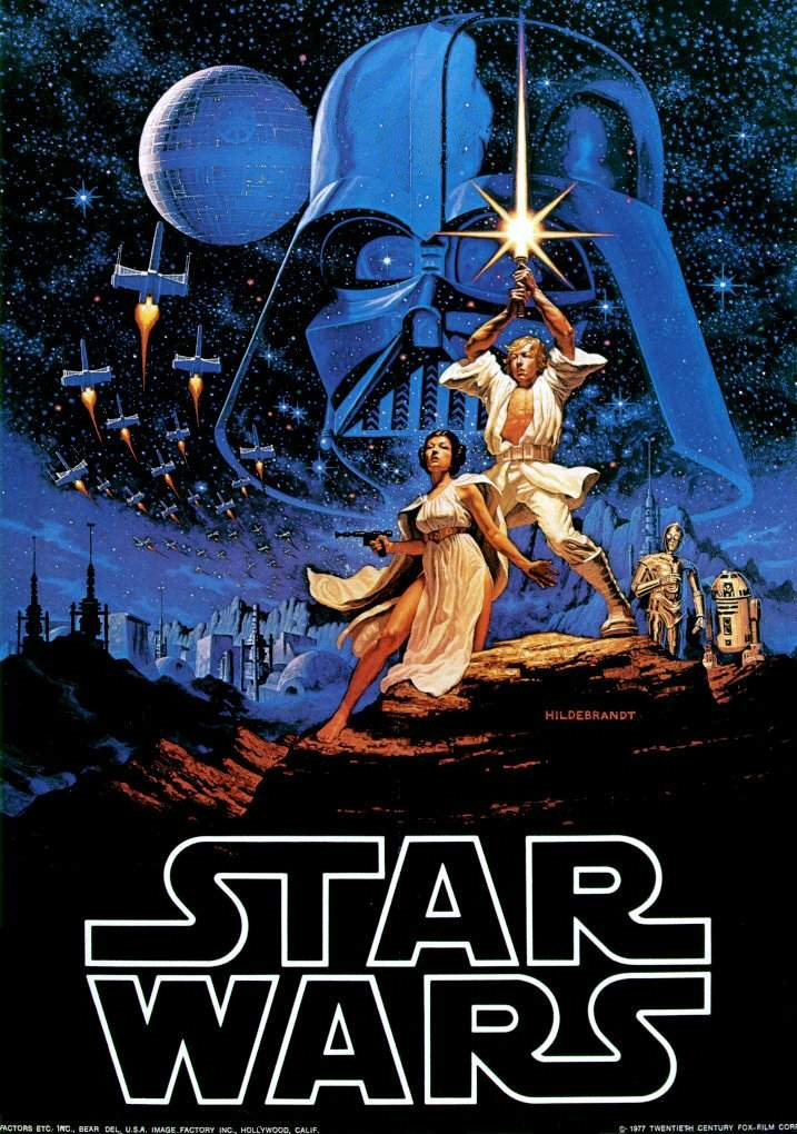 Star Wars movie cover.