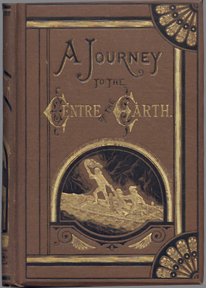 Book cover of Journey to the Center of the Earth by Jules Verne.