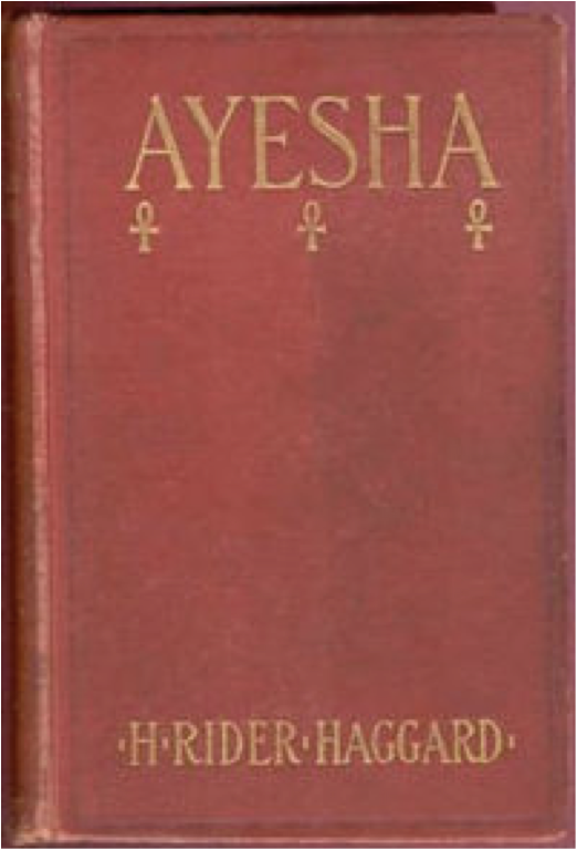 Book cover of Ayesha by H. Rider Haggard.