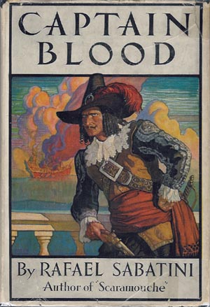 Book cover of Captain Blood by Rafael Sabatini.
