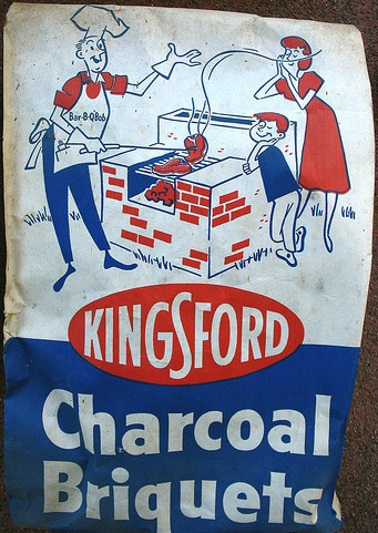Bag of kingsford charcoal grilling manly smells.