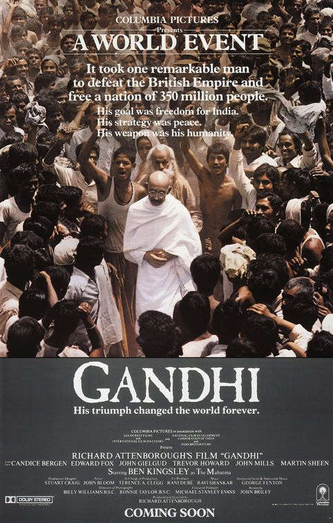 Gandhi Indian movie poster.