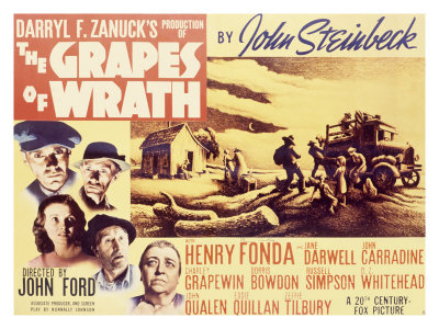 The Grapes of Wrath movie cover.