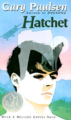 Book cover of Hatchet by Gary Paulsen.