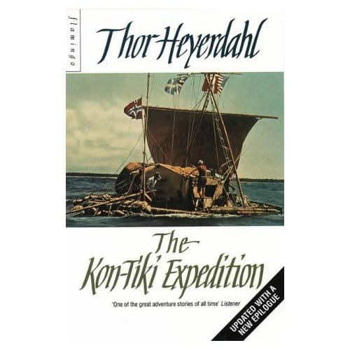 Book cover of The Kon-Tiki Expedition by Thor Heyerdahl.