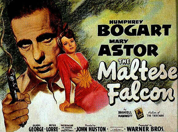 Action movie The Maltese Falcon poster.