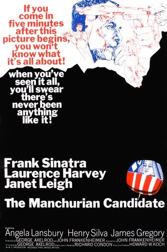 The Manchurian Candidate movie cover.