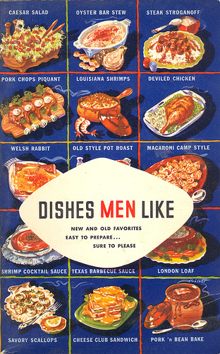 Different types of dishes and names displayed on a poster.