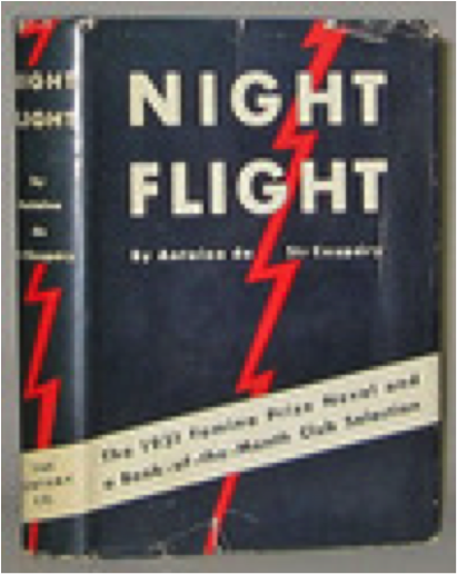Book cover of Night Flight by Antoine de Saint-Exupery.