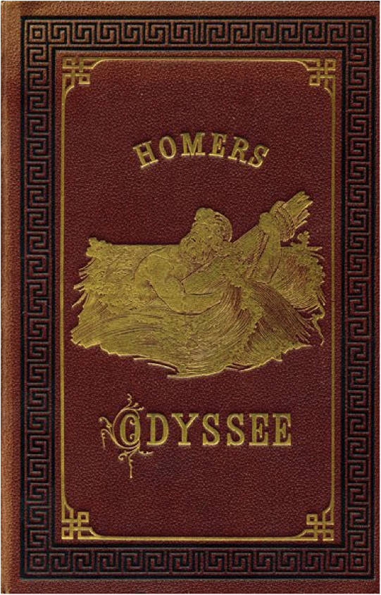 Book cover of The odyssey by Homer.