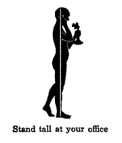 Good posture diagram about stand tall at your office.