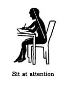 Good posture sitting neck back spine alignment diagram.
