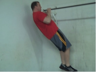 Narrow grip pull up body weight workout routine.