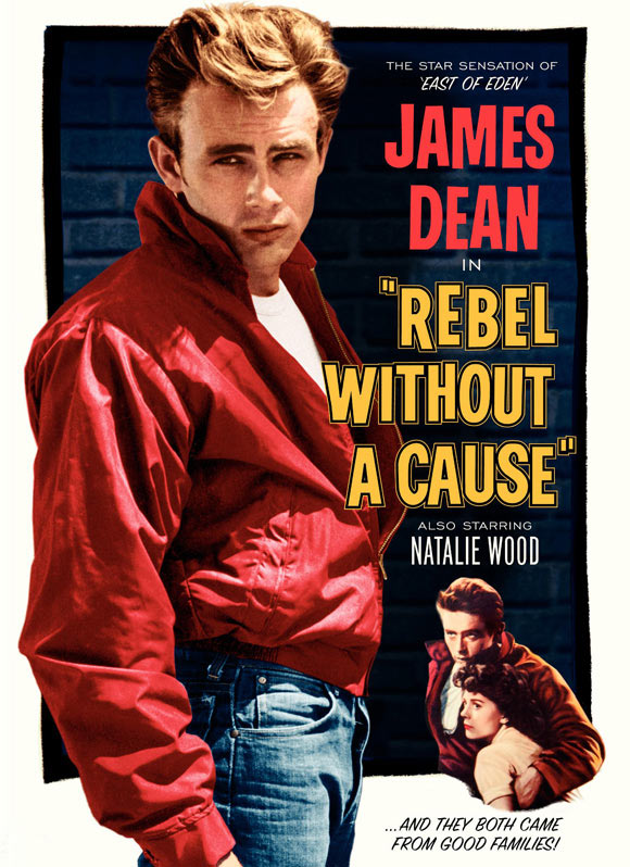 Rebel Without a Cause movie cover.