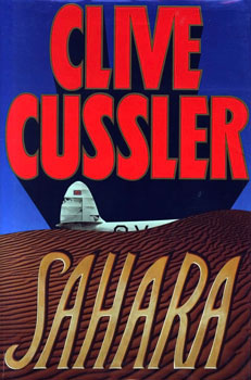 Book cover of Sahara by Clive Cussler.